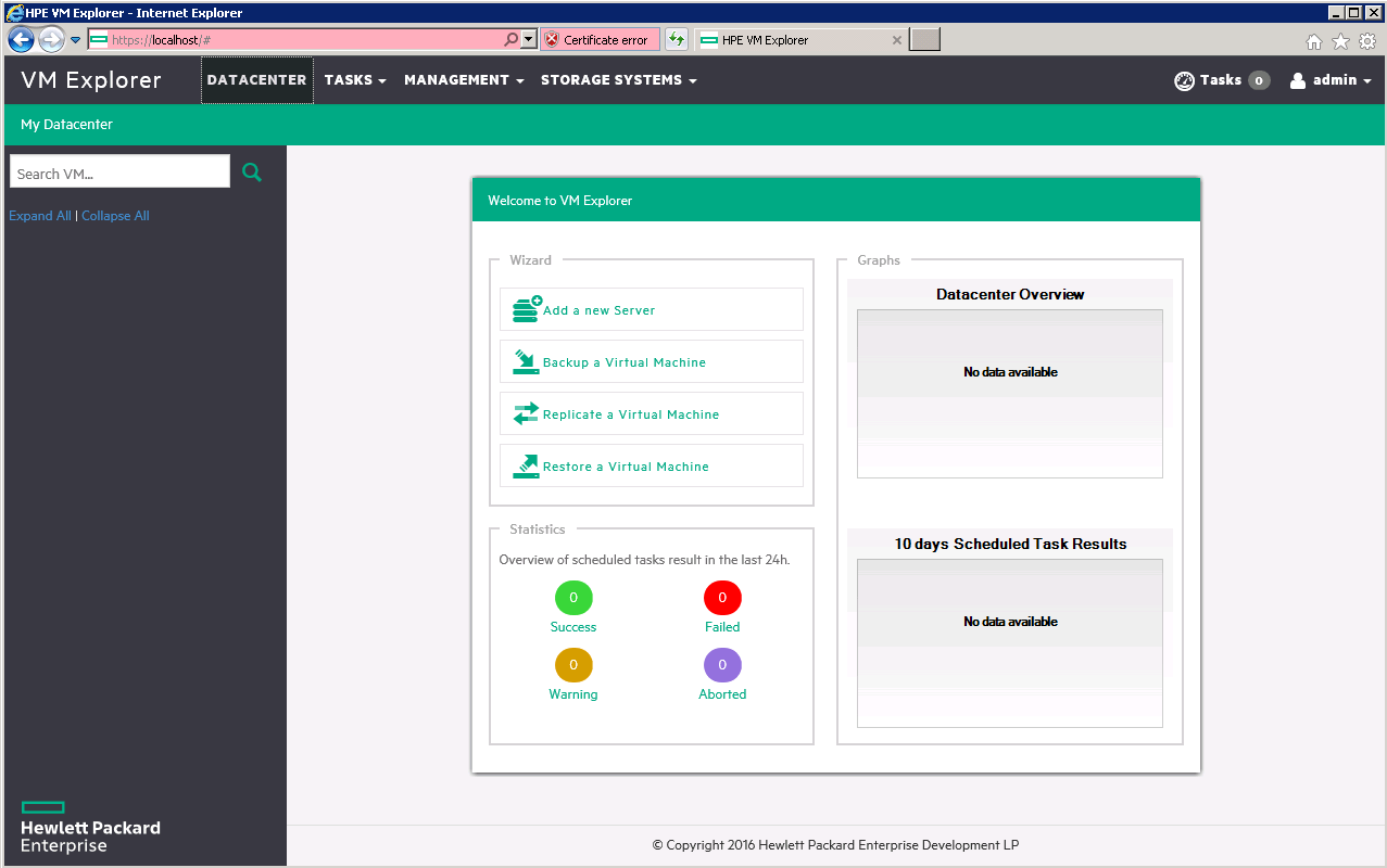 Getting started with HPE VM Explorer
