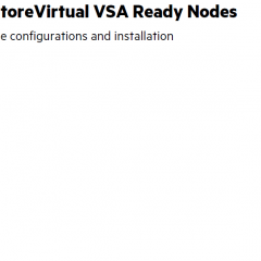 Want to start with StoreVirtual VSA? Begin with VSA Ready Nodes!