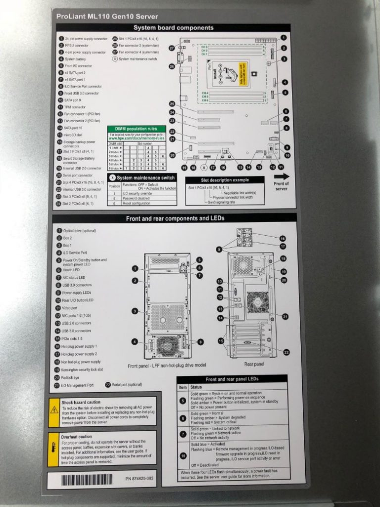 Hardware review: HPE Proliant ML110 Gen10 – ideal server for