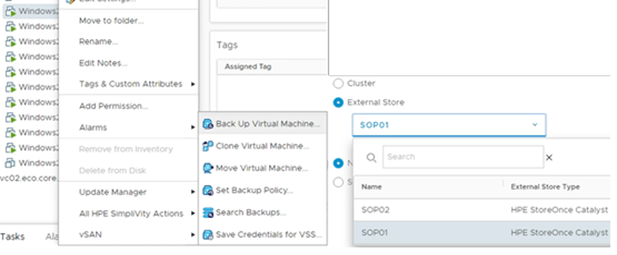 SimpliVity backup to StoreOnce